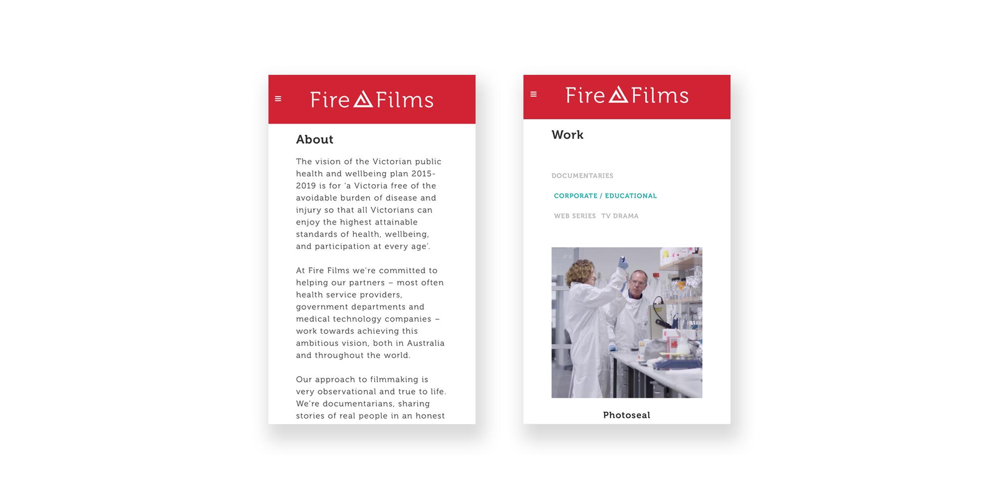 Fire Films Website