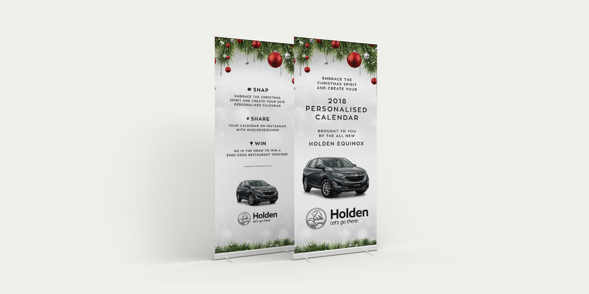 Holden Equinox Christmas Promotion Banners