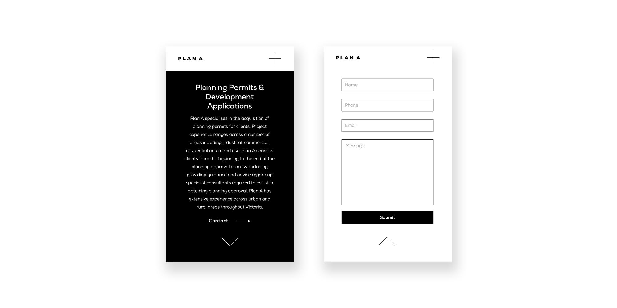 Plan A Planning Website