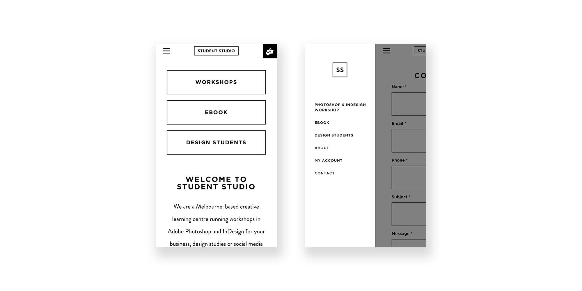Student Studio Website