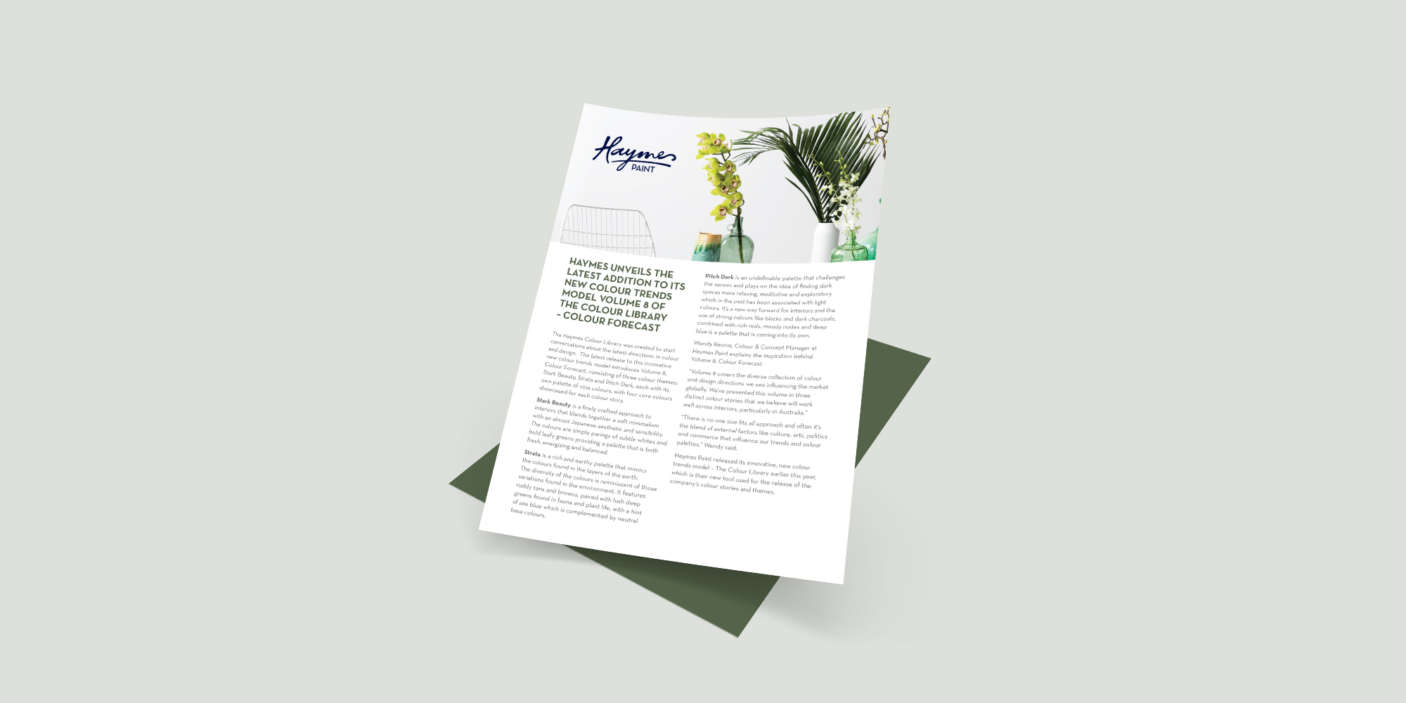 Haymes Paint Colour Library Vol. 8 Media Release