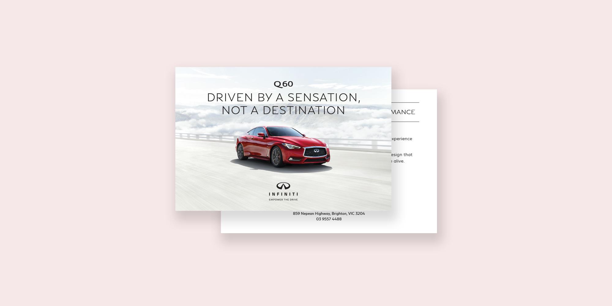 Infiniti Cars Q60 Postcard