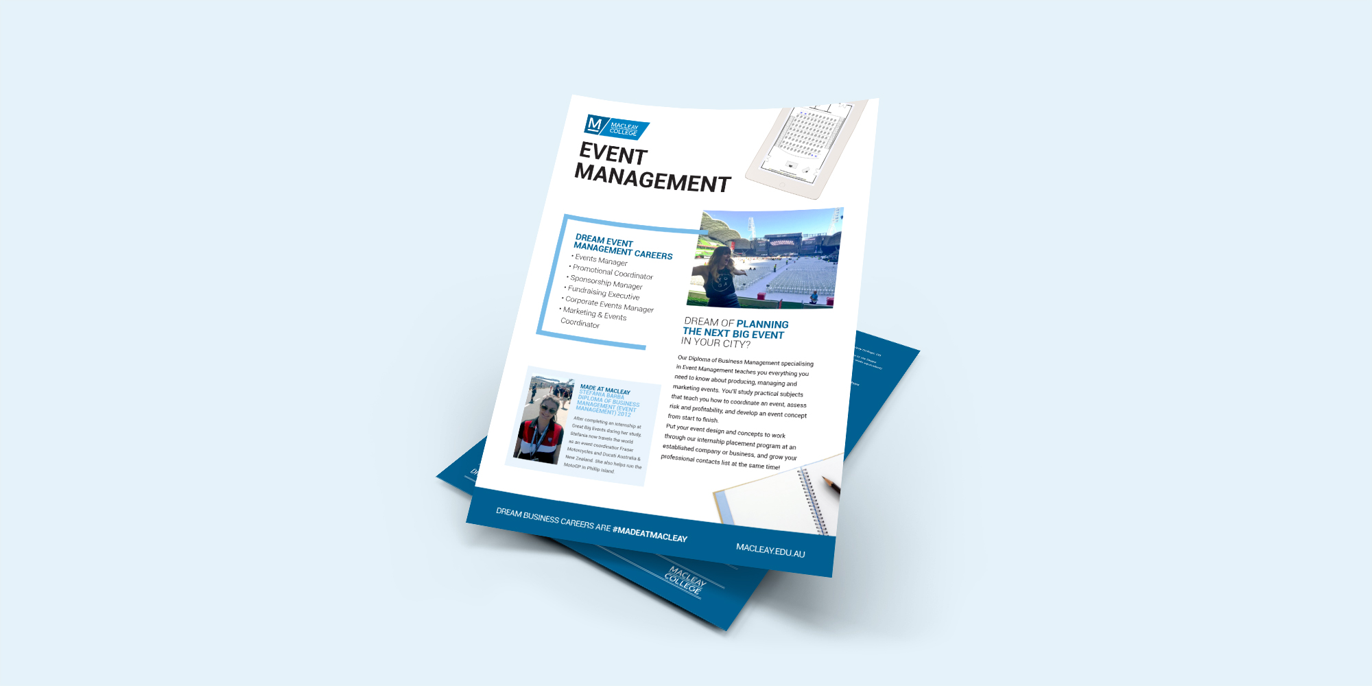 Macleay College Event Management Flyer