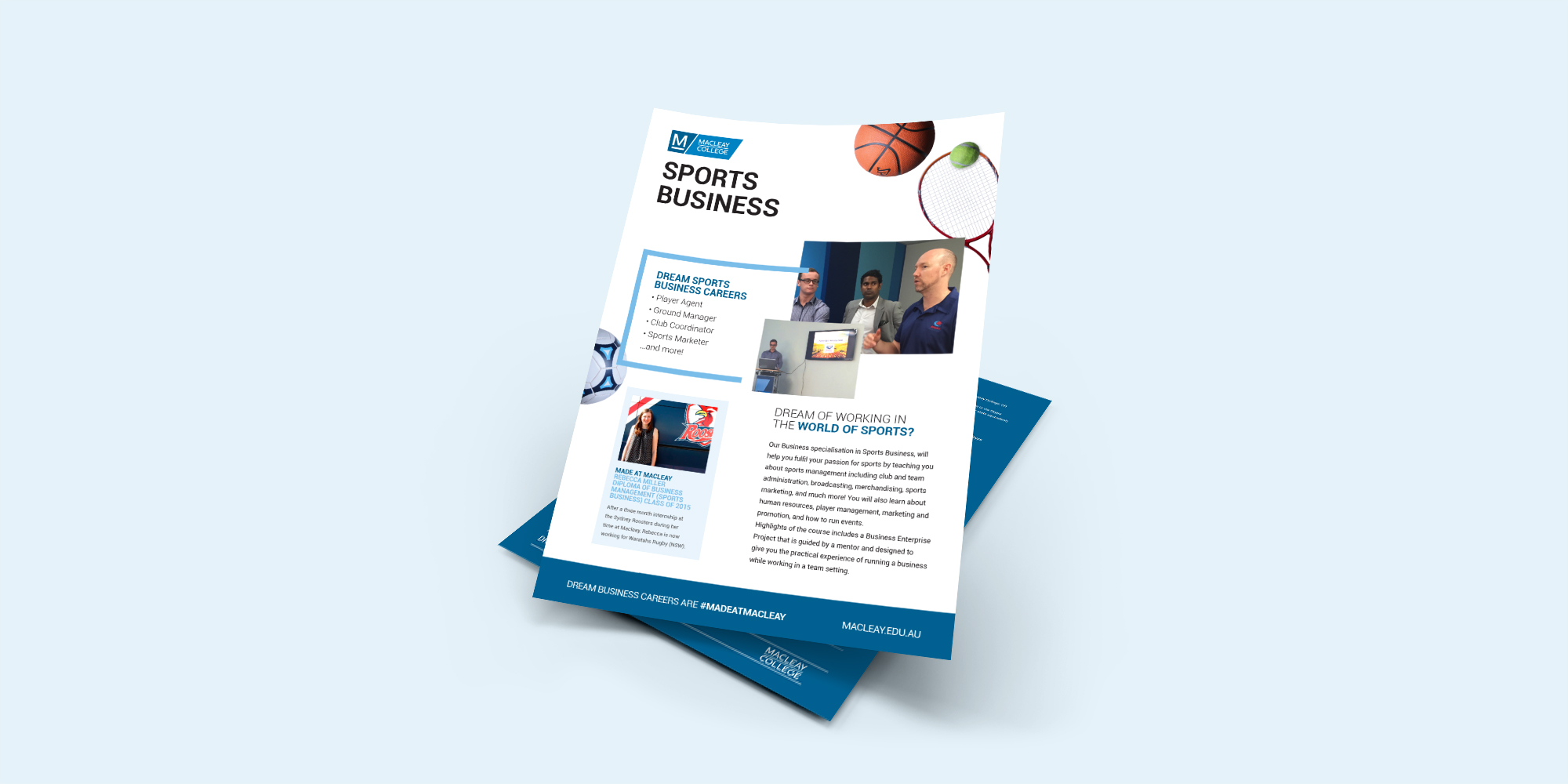 Macleay College Sports Business Flyer