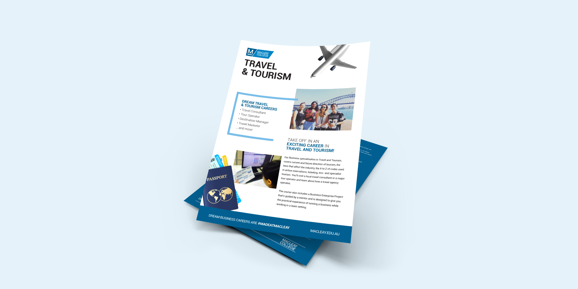 Macleay College Course Flyers - Ninth Street East Creative