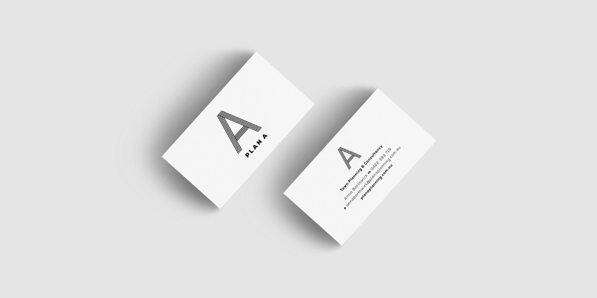 Plan A Planning Business Card