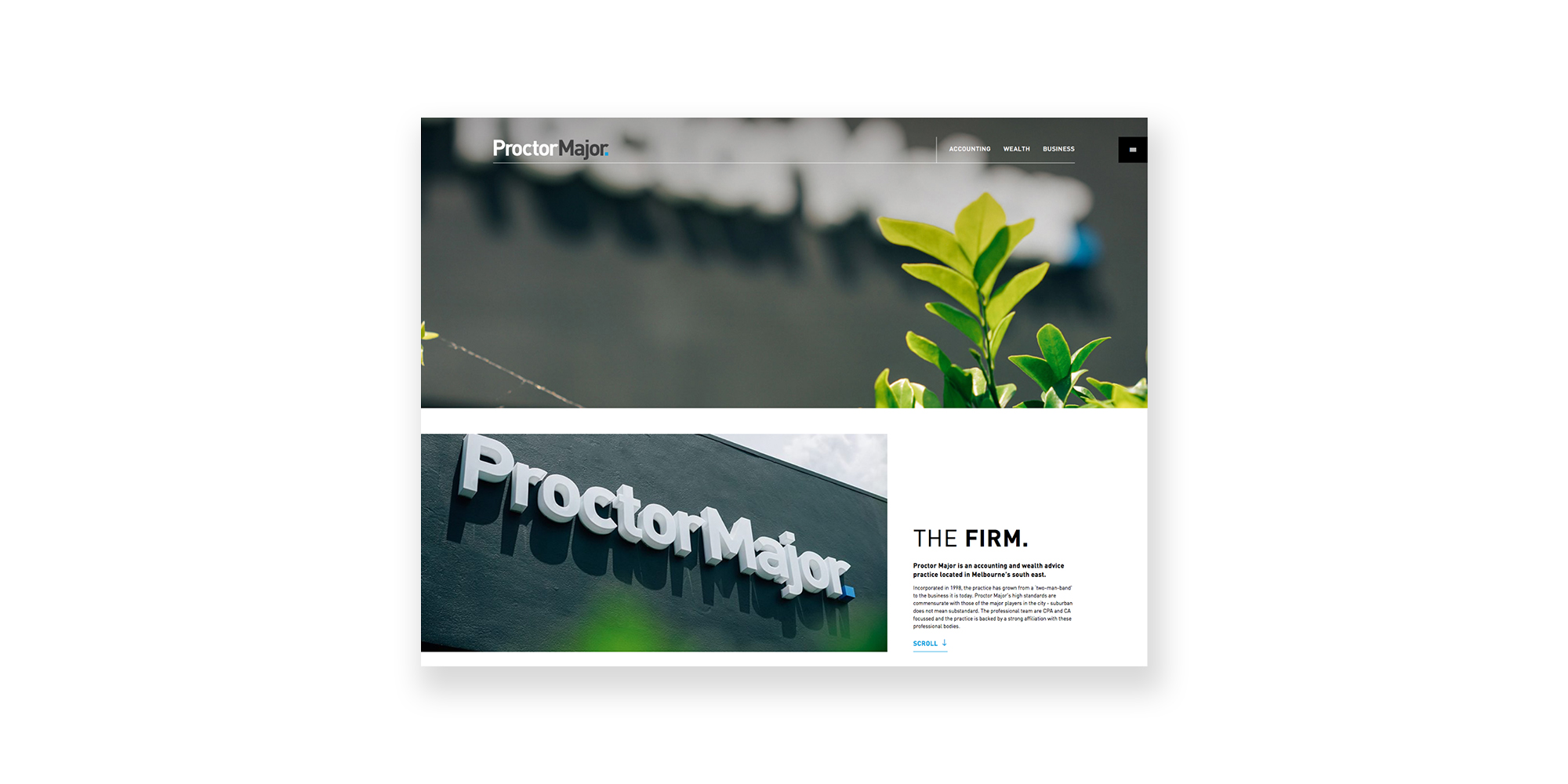 Proctor Major Website
